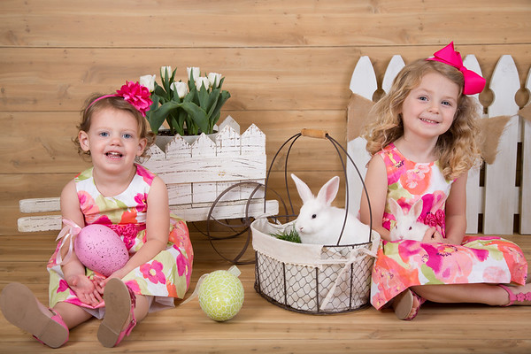 Bunny Pictures - March 2017 (Avery 4/Riley 2.5)