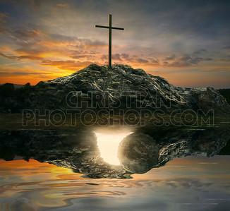 Cross and empty tomb