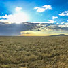 Panorama over the vast grassland of the Serengeti, Serengeti National Park, Tanzania