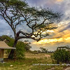 Sunset at Kenzan Kisura Camp, Serengeti National Park, Tanzania