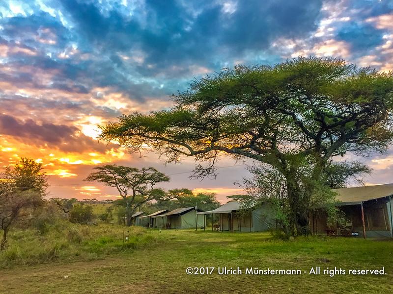 Sunrise at Kenzan Kisura Camp, Serengeti National Park, Tanzania