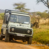 Broken down Land Rover Defender, Serengeti National Park, Tanzania