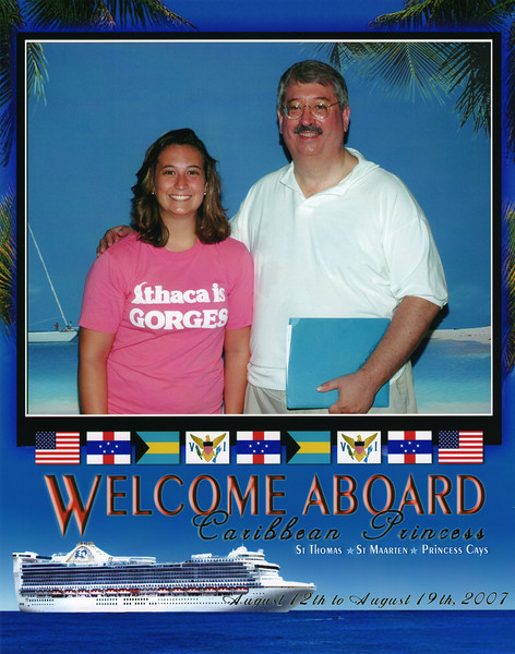 Welcome Aboard!  Emily and Dad at embarkation