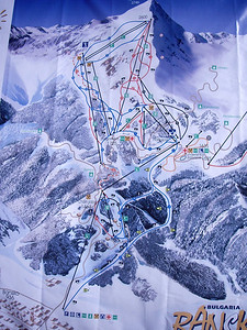 Bankso lift/run map
