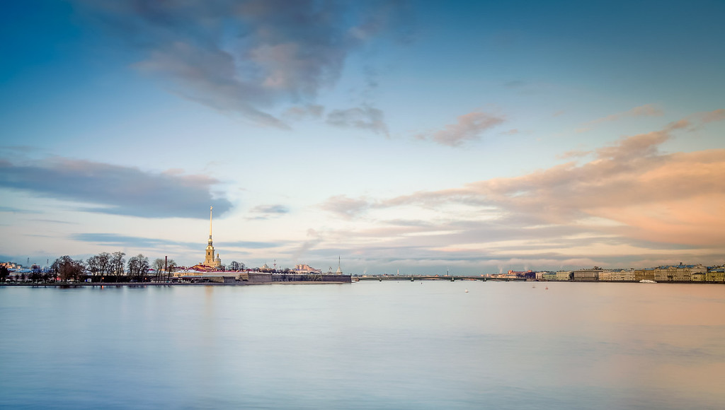 Peter and Paul fortress from the Neva