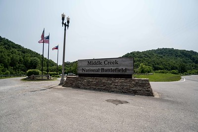 Middle Creek National Battlefield sign