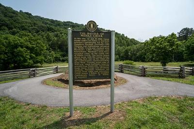 Battle of Middle Creek Highway Sign