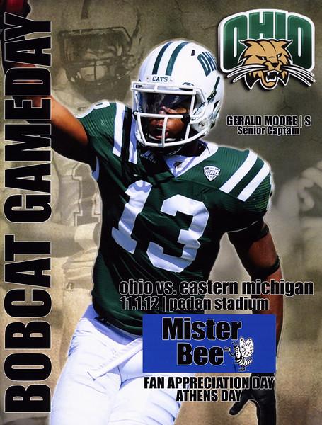 Official Game Program - Thursday, November 1, 2012 - Eastern Michigan University Eagles at Ohio University Bobcats