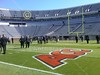 Friday, October 22, 2010 - The team walk thru at Scott Stadium located in Charlottesville, Virginia, and home to the Virginia Cavaliers (This photo is a cell phone photograph)