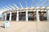 John Paul Jones basketball arena opened in the summer of 2006.  It is located on the campus of the University of Virginia and home to the Cavaliers.  On this date it was the site of the Eastern Michigan University alumni and fans tailgate.