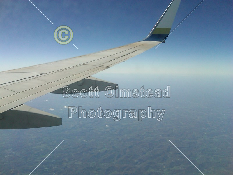 Friday, October 22, 2010 - The flight to University of Virginia located in Charlotesville, Virginia.  (This photo is a cell phone photograph)
