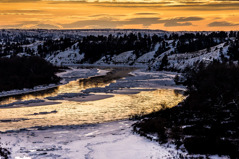 Yellowstone River near Custer, MT