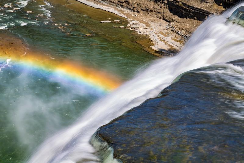 Middle Falls Rainbow 3, Letchworth National Park, N.Y.