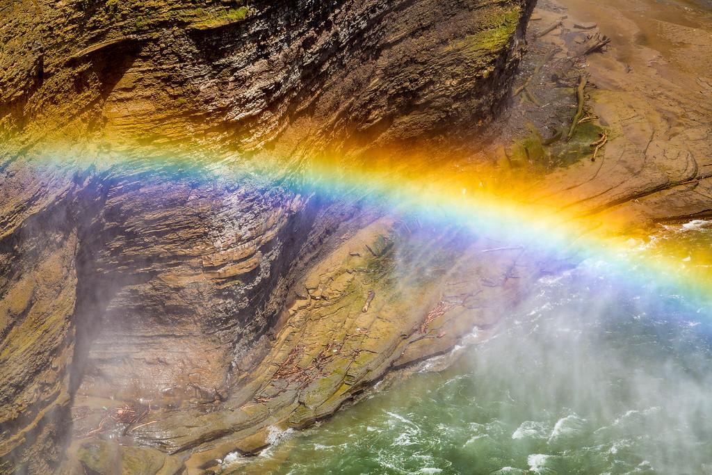 Middle Falls Rainbow 4, Letchworth State Park, N.Y.