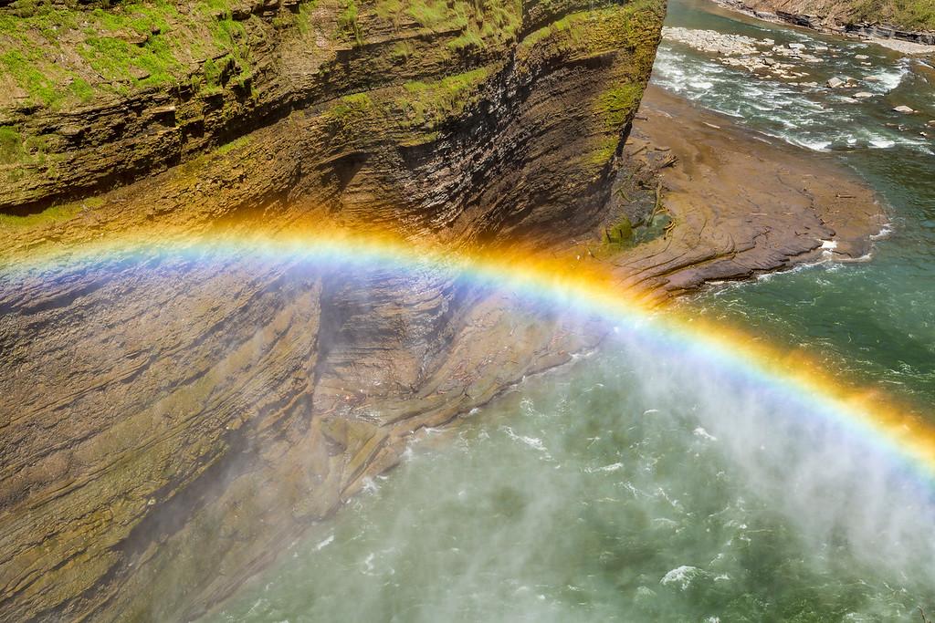 Middle Falls Rainbow 1, Letchworth State Park, N.Y.