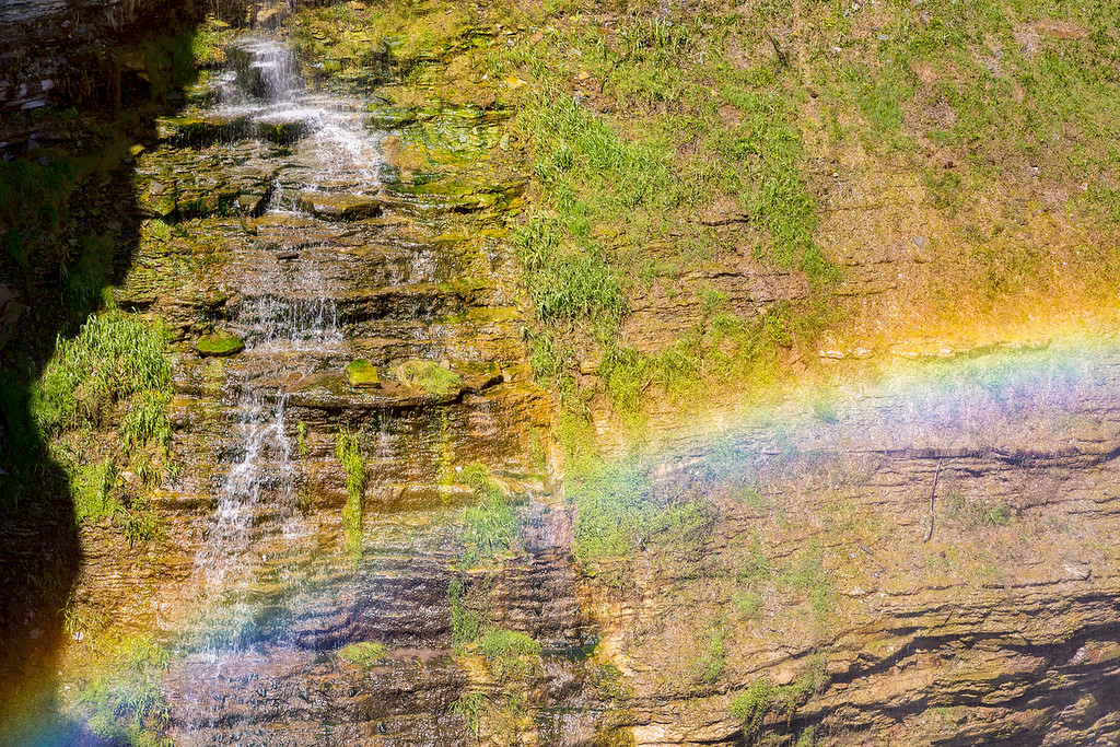 Middle Falls Rainbow 2, Lewtchworth State Park, N.Y.
