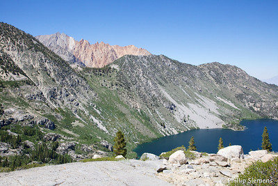 Lake Sabrina and Paiute Crags