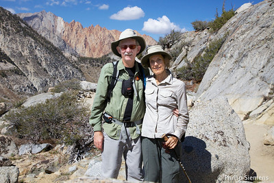 Us on the trail to Blue Lake