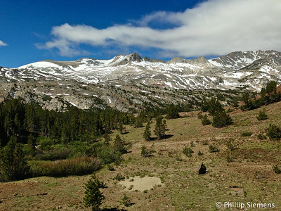 Sierra Crest from Saddlebag Lake