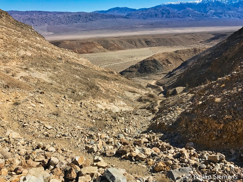 About half-way up, following an old mule trail.