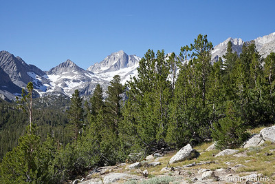 Bear Creek Spire towers over Little Lakes valley