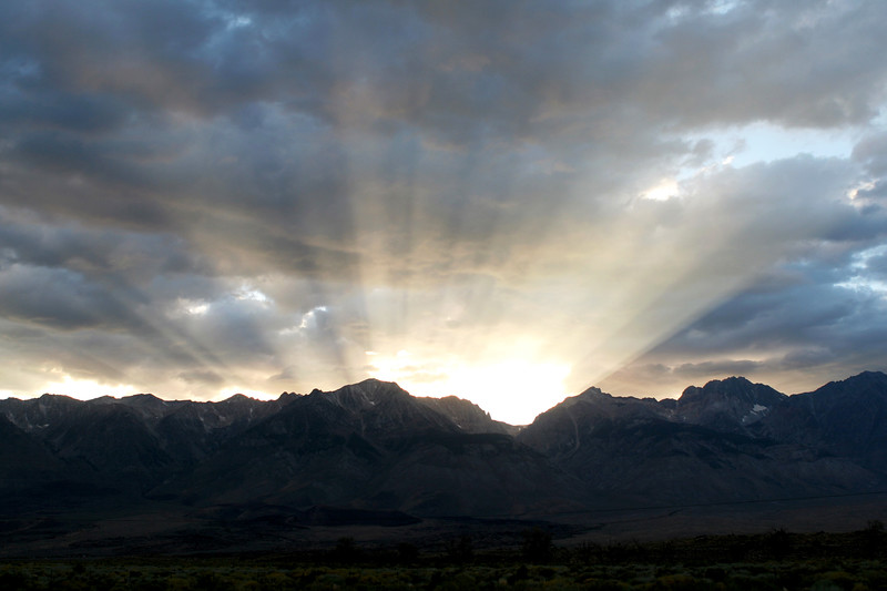 Sunset, Eastern Sierra Nevada Mountains, Bishop, California
