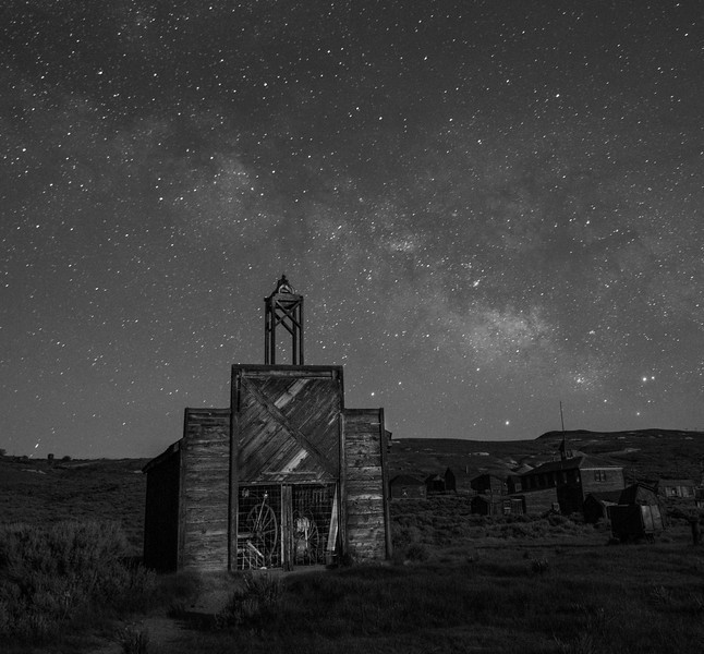 Milky Way and Bodie Fire House