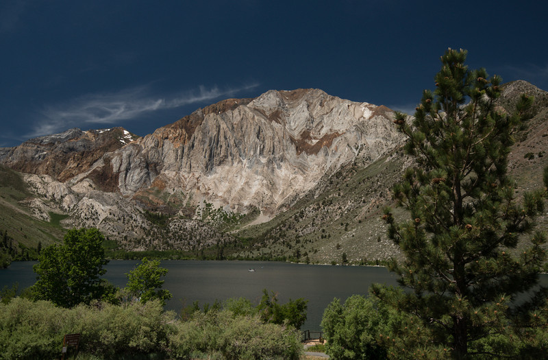 Convict Lake in front of Laurel Mountain