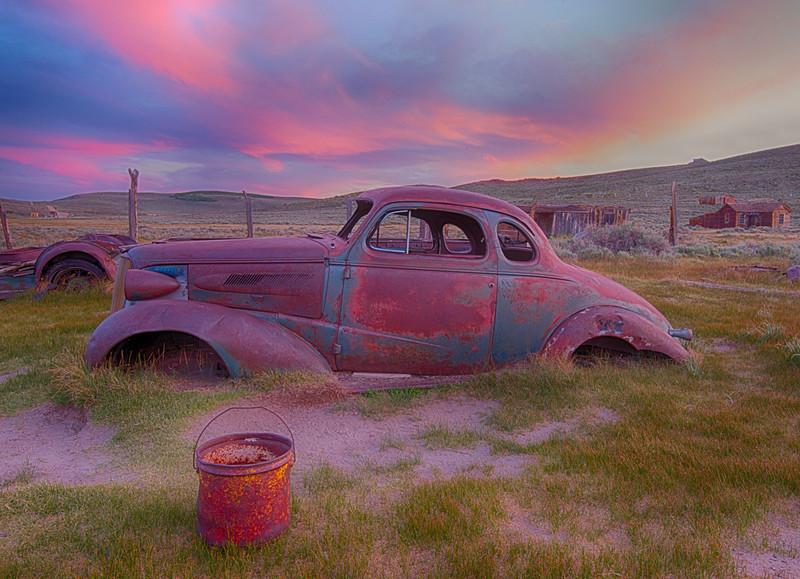 1937 Chevrolet Coupe and Bodie Sunset