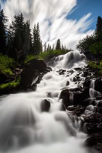 Twin falls long exposure, Mammoth Lakes