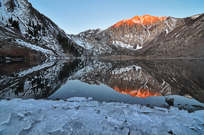 Convict lake winter reflections