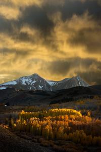 Last light on Conway Summit, Autumn in the Eastern Sierras