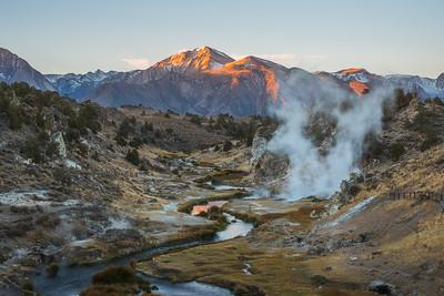 Mammoth Lakes Hot Creek sunrise