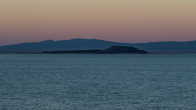Our view of Mono Lake as we waited to see the full moon rise.