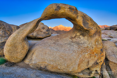 Alpine glow through the Arch.