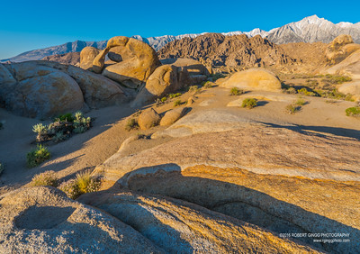 Early Morning in the Alabama Hills at the Mobius Arch