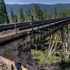 Union Pacific Railroad, Clio trestle on the Feather River Route