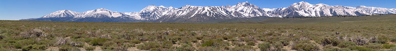 """Alkali lake east of Mount Morrison On the skyline L to R:     Mount Baldwin     Mount Morrison     Laurel Mountain     Mammoth Mountain     Mount Ritter     Mount Banner     Mount Dana  <a href=""""http://www.dbdimages.com/photos/76346700_gsXUu-O.jpg""""TARGET=""""blank"""">View large in another window.</a> Use your viewer's zoom function if necessary."""