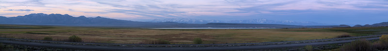 "Lake Crowley Sunset Panorama with US395 in the foreground, Glass Mountain and the White Mountains on the skyline.  <a href=""http://www.dbdimages.com/photos/76344566_vMazT-O.jpg""TARGET=""blank"">View large in another window.</a> Use your viewer's zoom function if necessary."