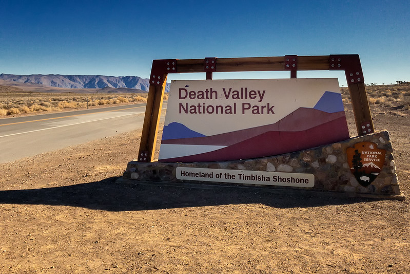 Death Valley Park Sign