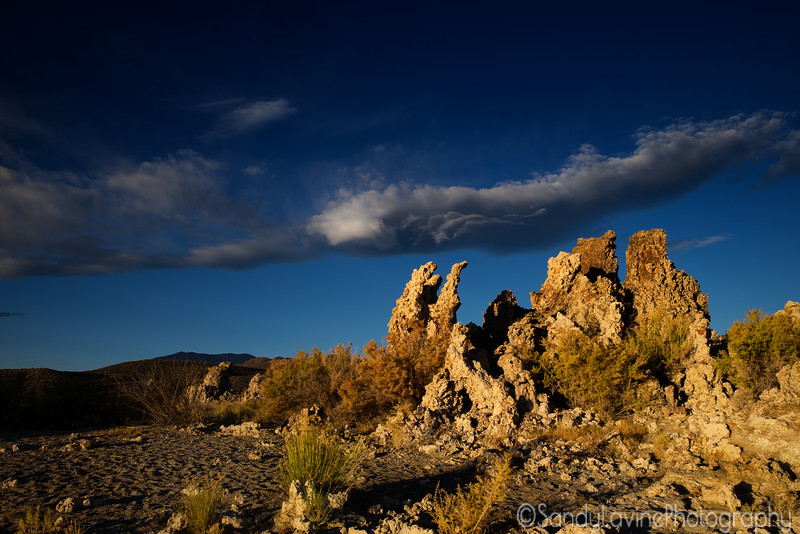 Mono Lake Tufa and Clouds