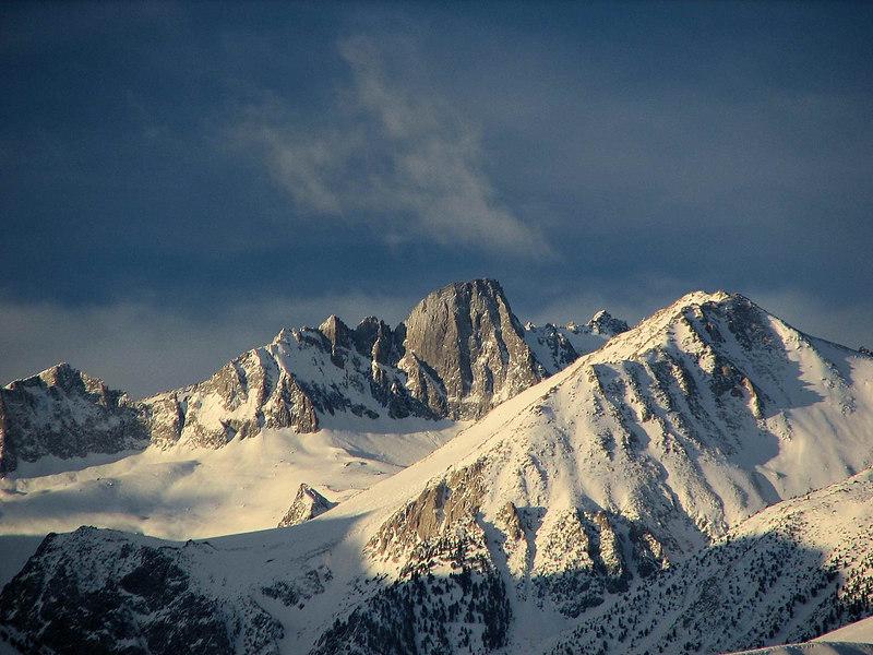 North Palisade Winter Sunrise<br /> polemonium Peak - Mount Alice