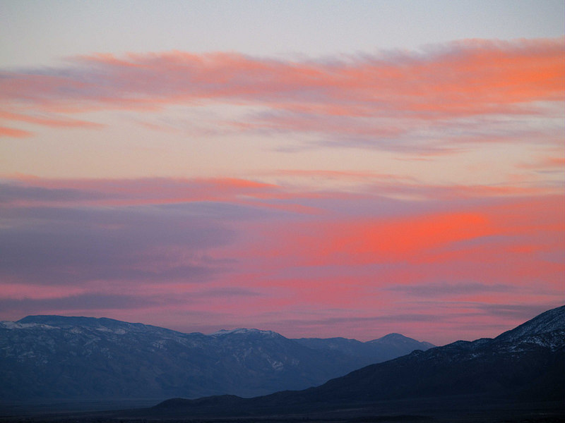 Inyo Sunset from the North 2<br /> Mount Inyo - Keynot Peak