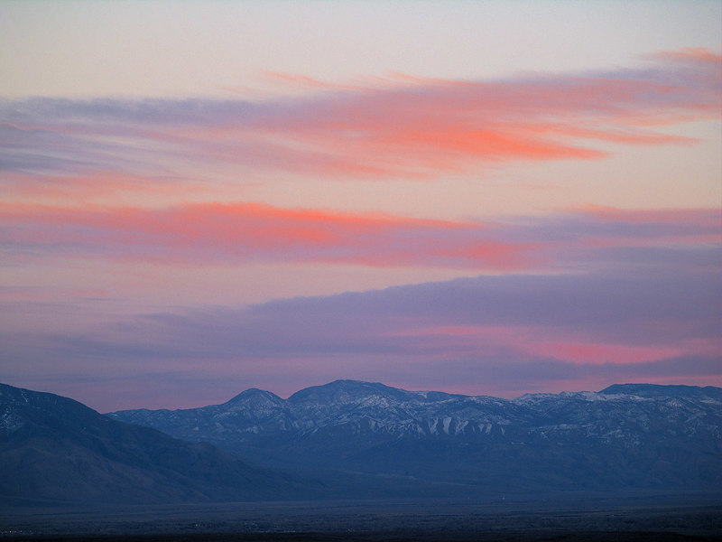 Inyo Sunset from the North 3<br /> Squaw Peak - Waucoba Mountain