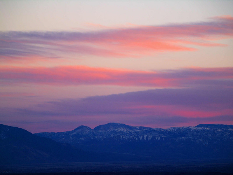 Inyo Sunset from the North 4<br /> Squaw Peak - Waucoba Mountain
