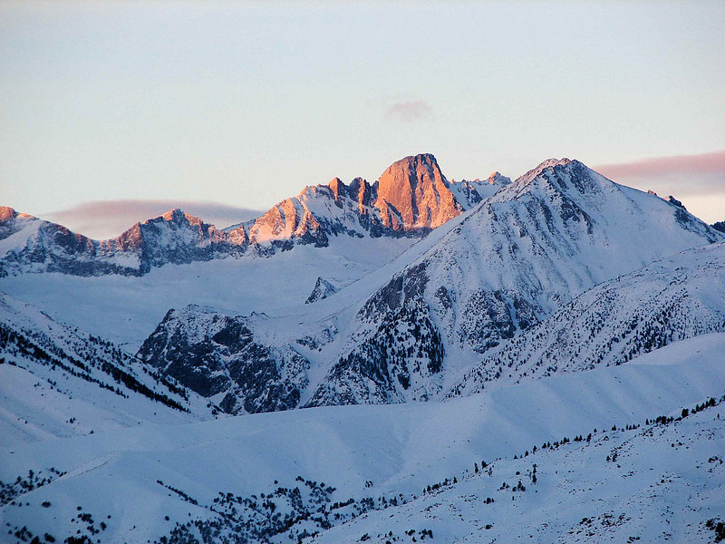 North Palisade - Mount Alice<br /> Winter Sunrise