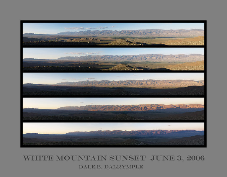 Five White Mountain Sunsets<br /> June 3, 2006