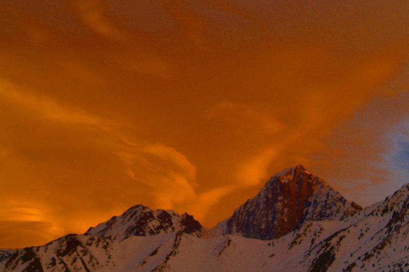 Mount Morrison Winter Sunset 1