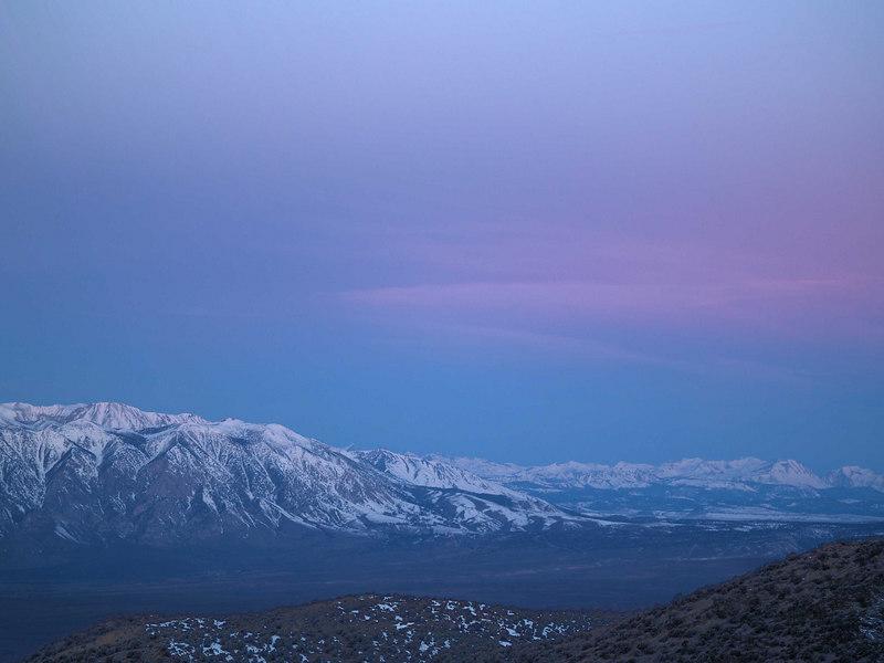 Wheeler Crest Sierra Sunrise <br /> 20060207 7:43am PST
