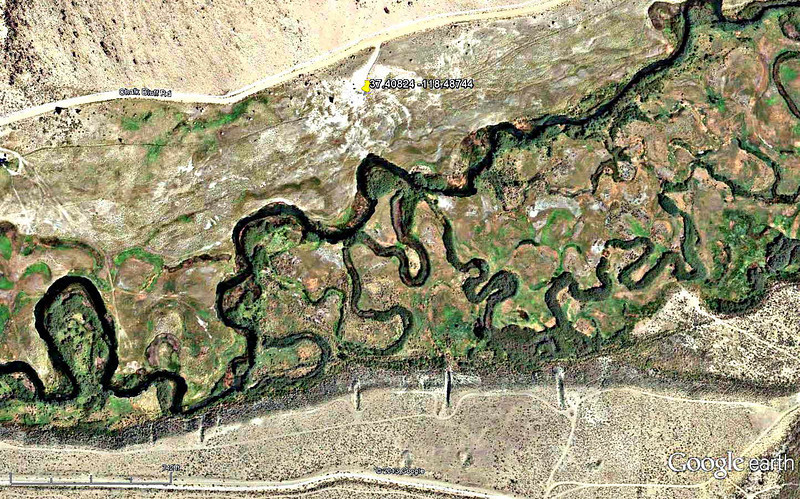 Lower Owens-Bishop Special Regs Waters<br /> 09-Meadow_Willows_No_rock<br /> 37.41122 -118.46592<br /> Aerial View